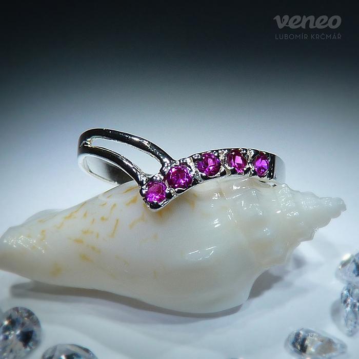 Veneo Anita - prsten s rubíny , Materiál: Stříbro, ryzost 925/000 - P3003/kz1