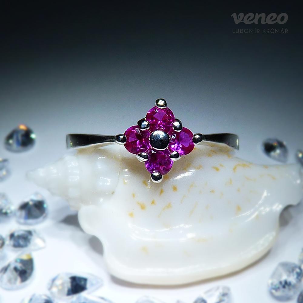 Veneo Viola - prsten s rubíny , Materiál: Stříbro, ryzost 925/000 - P3042/kz1