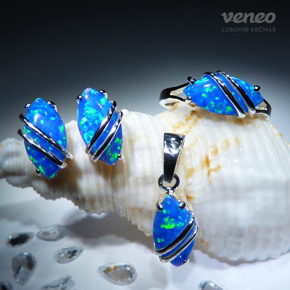 Veneo Marabelle – souprava šperků s thajskými opály a plastikou, Materiál: Stříbro, ryzost 925/000, Velikost: 40 - S3006/op5A-b