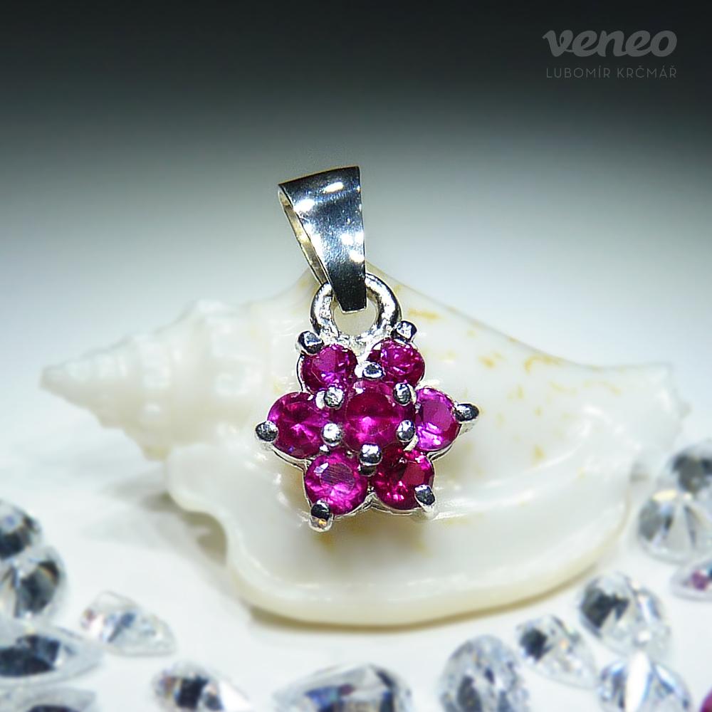 Veneo Astra - přívěsek s rubíny, Materiál: Stříbro, ryzost 925/000 - Z3036/kz1.kz1