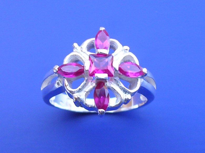 Veneo Angelika - prsten s rubíny, Materiál: Stříbro, ryzost 925/000 - P3033/kz1.kz1