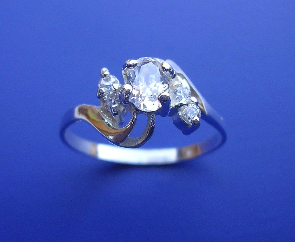 Veneo Sabrina - prsten s akvamaríny , Materiál: Stříbro, ryzost 925/000, Velikost: 40 - P3080/kz4.kz4
