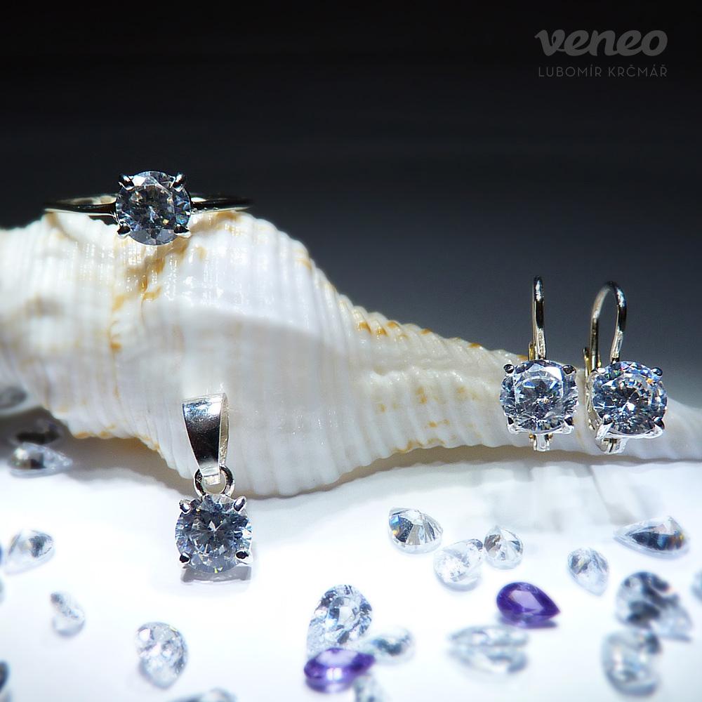 8887b802d Diana 6 – sada šperků s čirými zirkony - Veneo